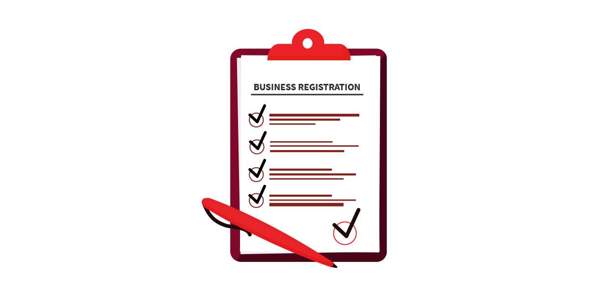 do the business registration process